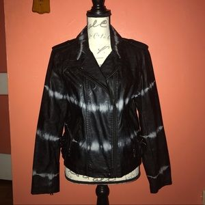 bar III Faux-Leather Jacket